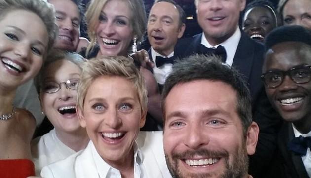 Selfie ceremonie des oscars 2014