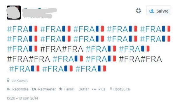 Tweet contenant uniquement des hashtags