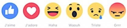 Les nouvelles réaction de Facebook
