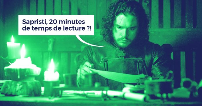 Temps de lecture épisode Game of Thrones