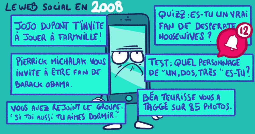 Les réseaux sociaux en 2008