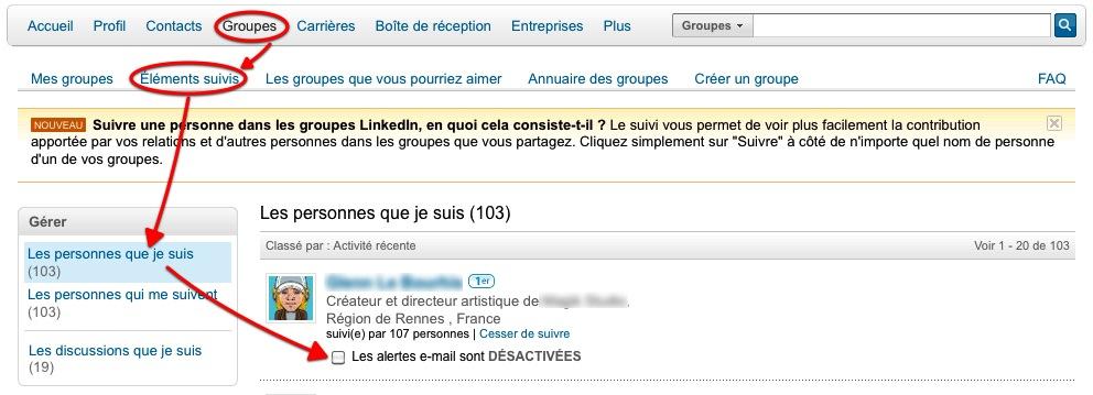 LinkedIn veille réseau