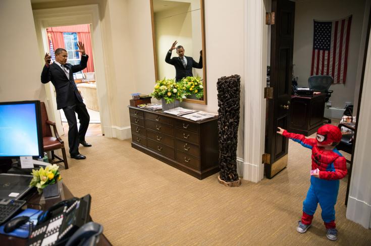 Exemple d'une photographie de Barack Obama publiée sur son Tumblr