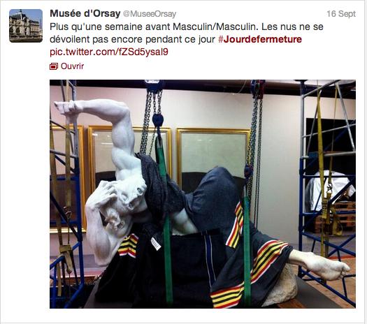 #jourdefermeture installation de statues au musée d'orsay