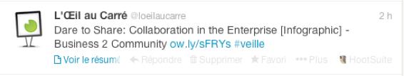 Exemple qui montre comment on peut contextualiser un tweet grâce au hashtag