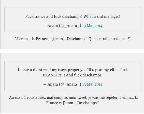 Anara Atanes s'énerve sur Twitter