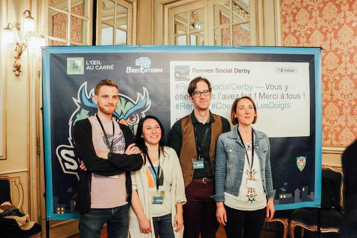 Glenn de Breizhtorm, Stéphanie, Colin et Marie de L'Oeil au Carré